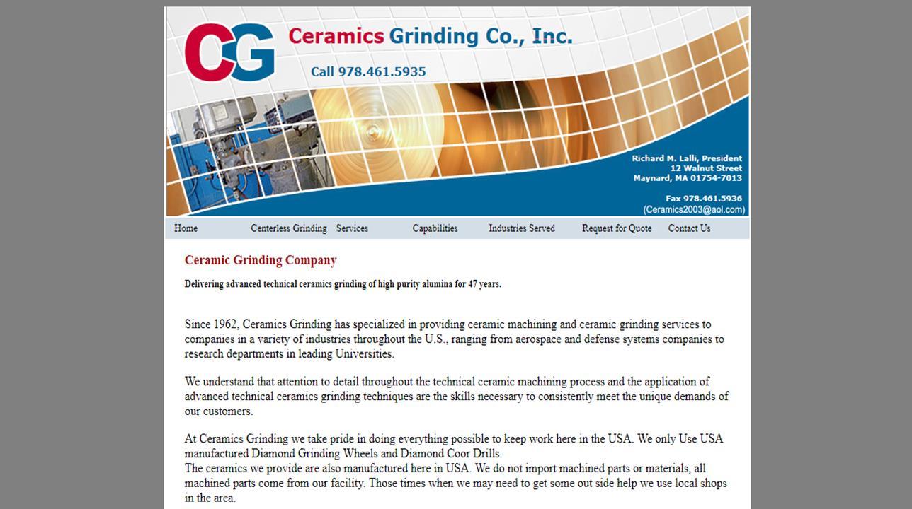 Ceramics Grinding Co., Inc.