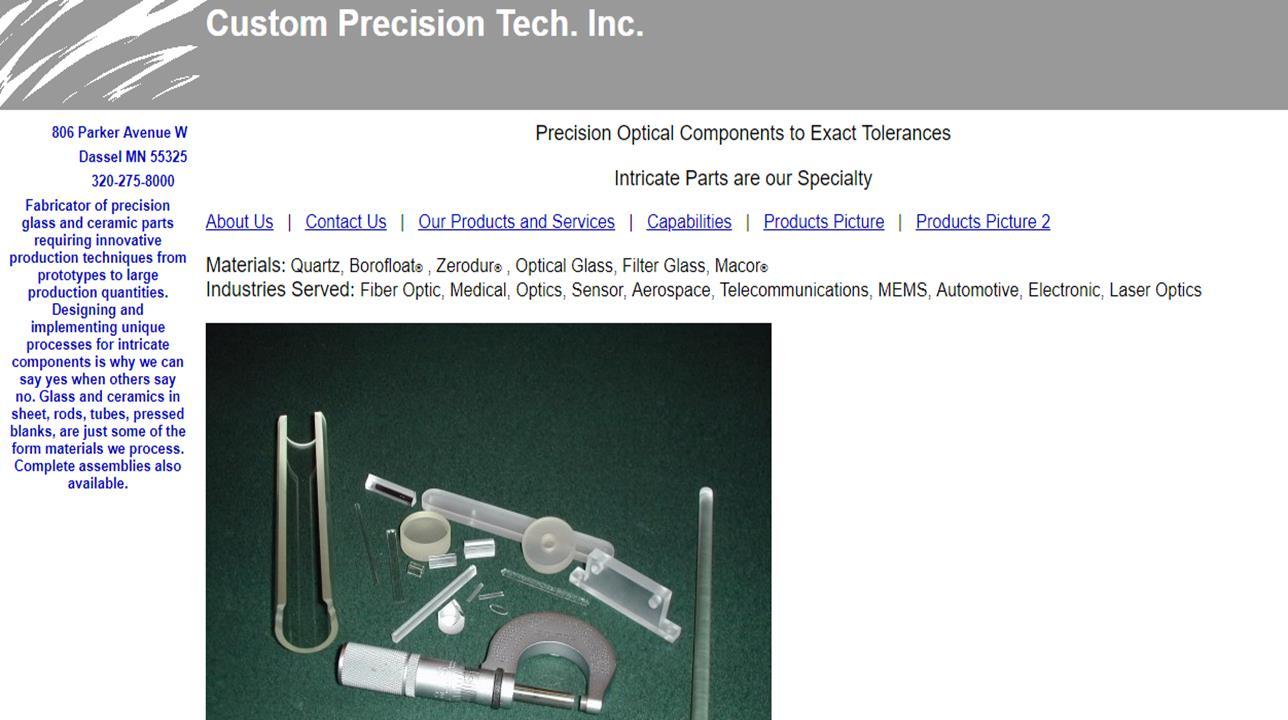 Custom Precision Tech. Inc.