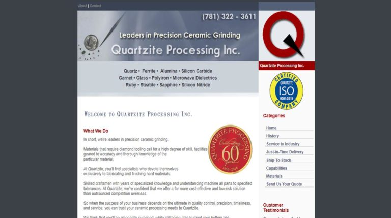 Quartzite Processing Inc.