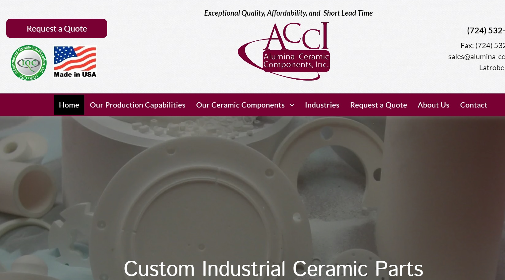 Alumina Ceramic Components, Inc.